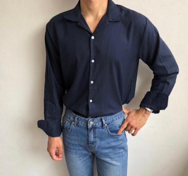 🇰🇷韓國清平和R團-純色開領襯衫