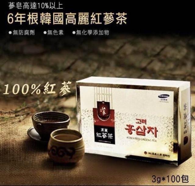 ★韓國進口★【6年根韓國高麗紅蔘茶100包入】