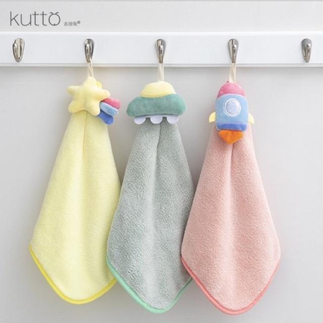 #預購珊瑚絨可愛造型吸水擦手巾