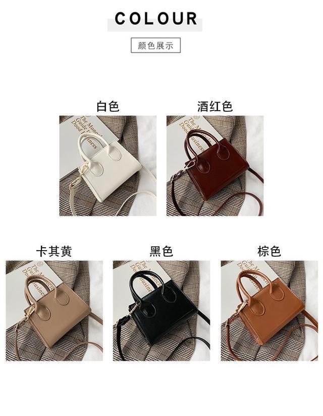 夏天包包新款潮韩版女斜挎素色洋气小方包