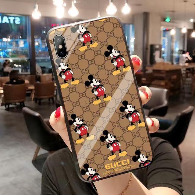 蘋果11promax手機殼iPhone6/7/8plus玻璃xr卡通米老鼠xsmax/女xs