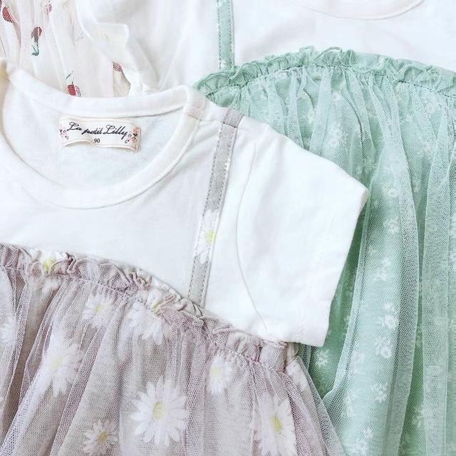 外貿日單紗裙小洋裝 90-100