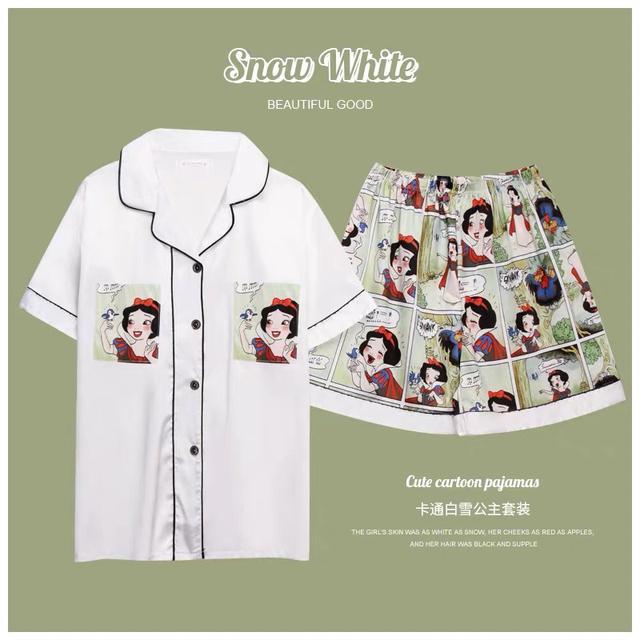 A013 白雪公主冰絲睡衣 (白色)