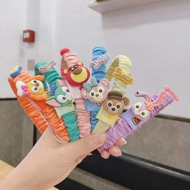 (預購S) H236 - 韓國兒童達菲系列皺褶髮箍