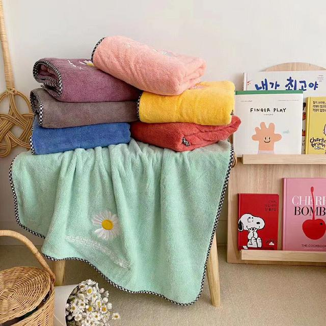 小雛菊浴巾毛巾組合(注意:顏色隨機)07