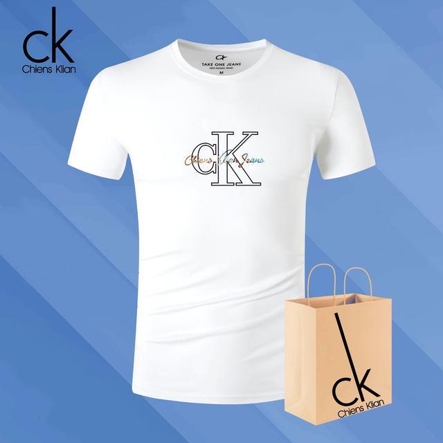 歐美ins款號CK20男士短袖t恤情侶個性棉休閒潮流t大碼
