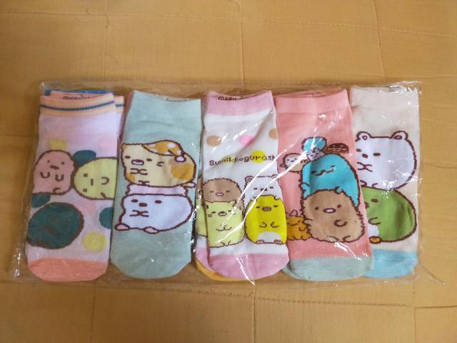 💦現貨+預購💦角落生物大童船型短襪(5雙一組)