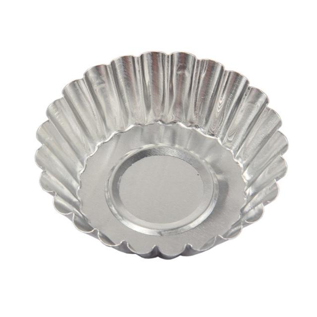 10入組 小蛋糕模具鋁合金蛋撻模 陽極蛋塔模 葡式蛋塔 米糕模烤箱用蛋撻馬拉糕可反複使用