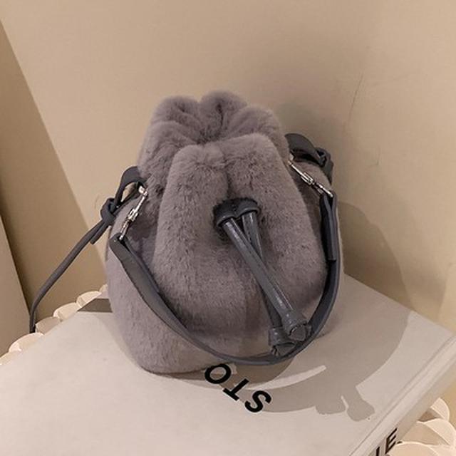 預購🦊新款包包女包百搭ins斜挎包毛绒包水桶包