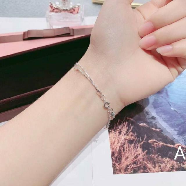 預購商品11/27結單  香港正生S925純銀 雙層星星花珠純銀手鏈