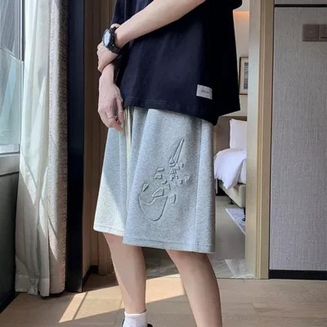MS2212潮流男裝 純棉寬鬆五分休閒運動中褲(2色)