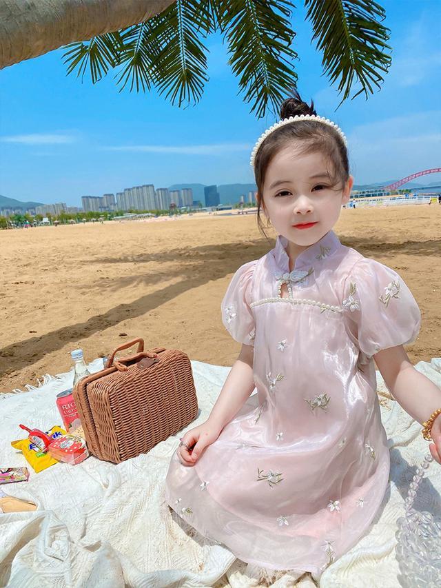 ⚜女童旗袍夏季中國風童旗袍裙