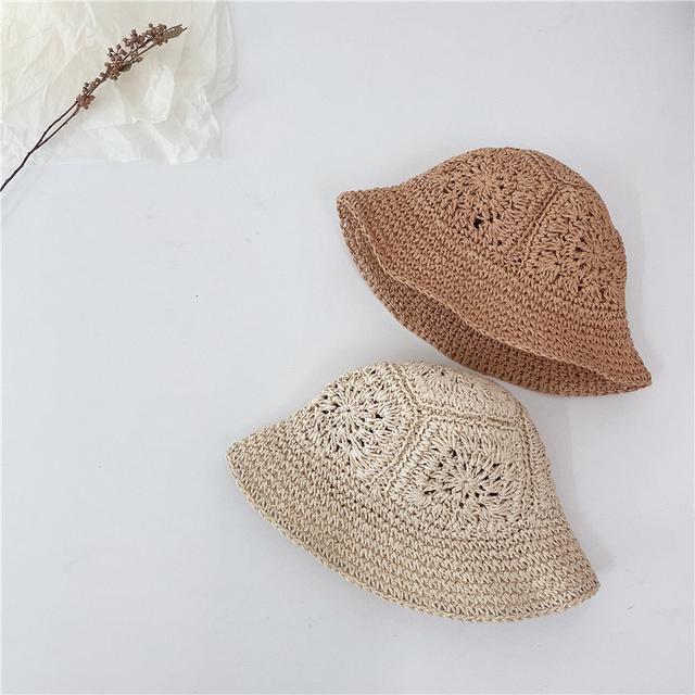 小清新縷空編織草帽
