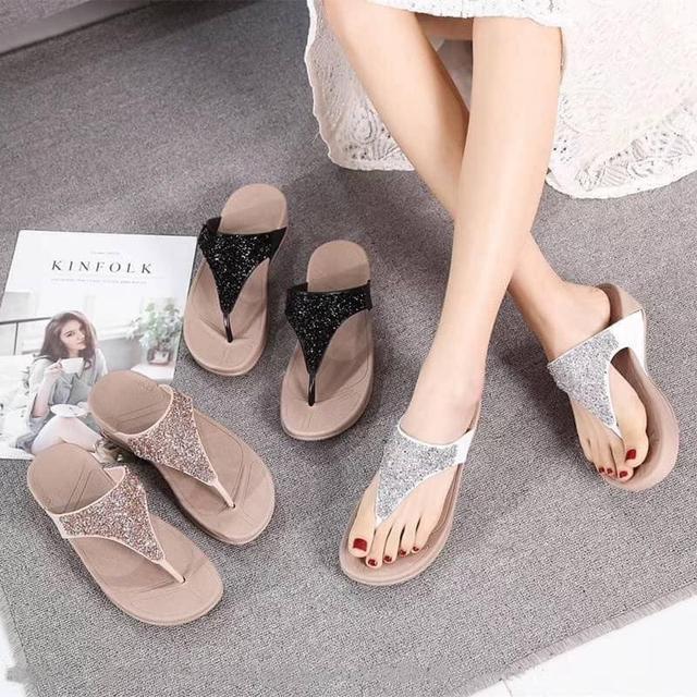 鑽石人字拖沙灘女鞋