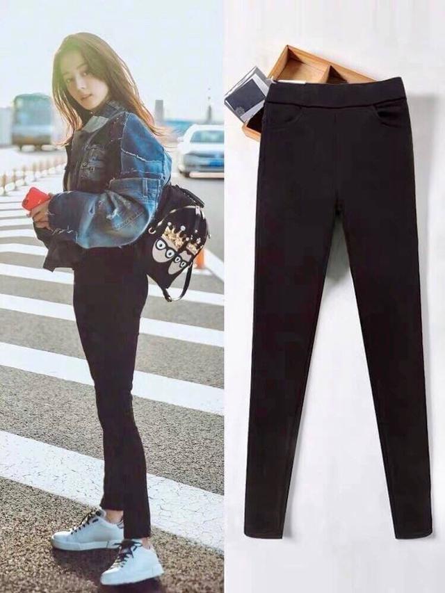 🌸迪麗熱巴同款—韓國超彈力顯瘦魔術黑褲