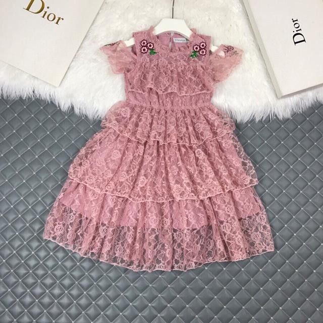 Dio*迪新品潮牌蕾絲蛋糕裙.公主連衣裙