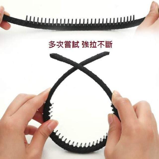 (預購S) H207 -韓國布藝帶齒防滑髮箍(一組3個)