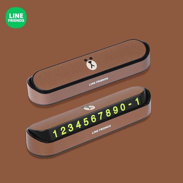 正版LINE FRIENDS臨時停車電話號碼牌按壓隱藏(6款)