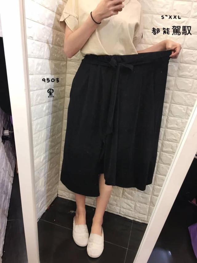 正韓- 超美綁帶開叉裙