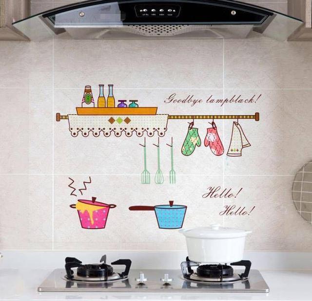 透明款耐高溫廚房防油貼