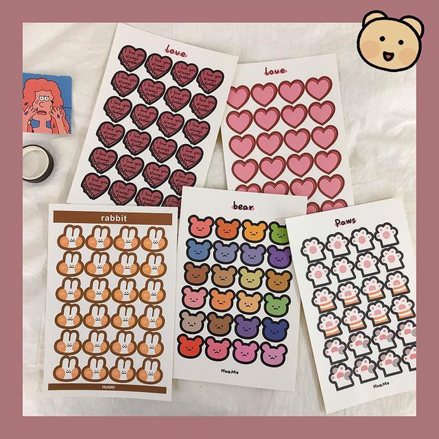 ✨ins韓系卡通可愛手帳貼紙✨