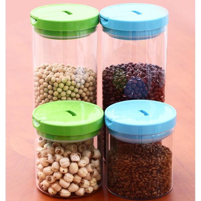 廚房密封罐  密封收納儲物罐 廚房耐熱玻璃密封罐  多功能