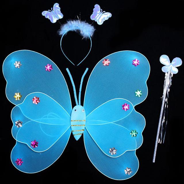預購雙層天使蝴蝶翅膀兒童奇妙仙子道具(舞)