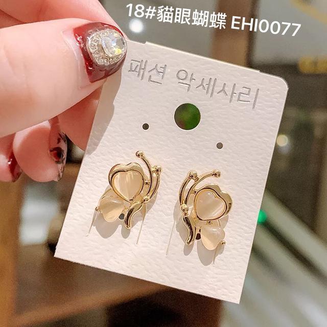 (13~18款)925純銀小耳釘冷淡風個性氣質簡約ins網紅韓國東大門耳飾耳環