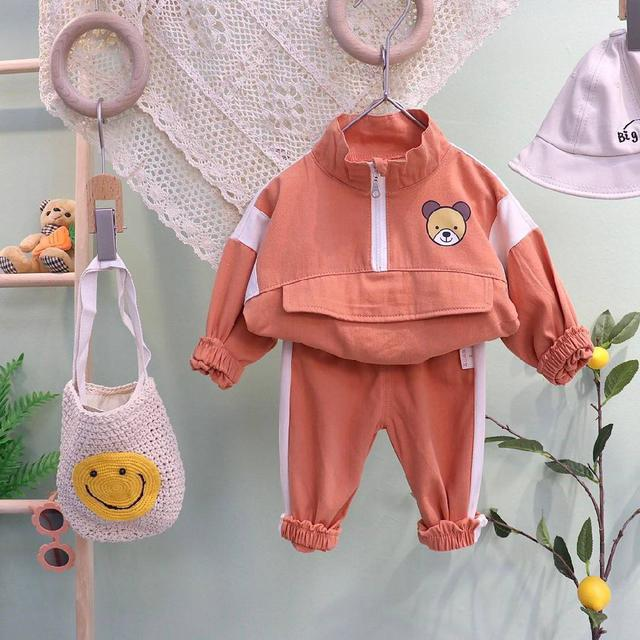 『秋冬-預購』小熊印花休閒套裝2件組