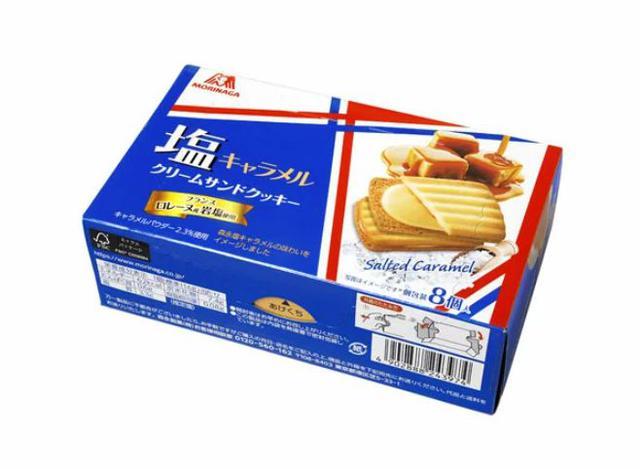 森永焦糖奶油鹽夾心餅乾
