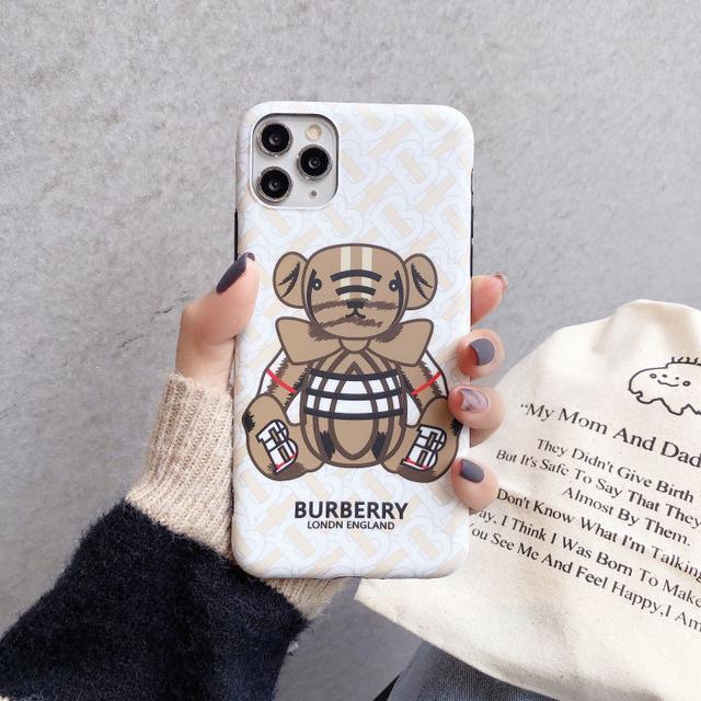 潮牌巴寶莉小熊蘋果11pro max手機殼iphonex個性xr磨砂8plus軟殼7