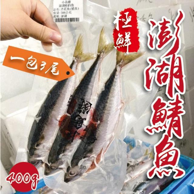 預購限量-💥廠商釋出強大優惠💥極鮮澎湖鯖魚400g【一包3尾、精美真空包裝】
