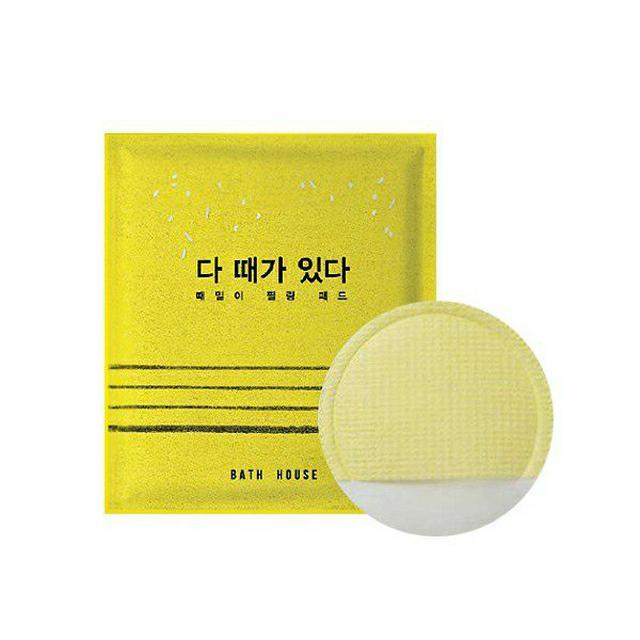 韓國 Bath House 臉部去角質棉片 一片入
