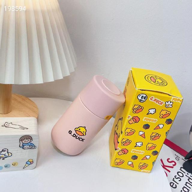 鴨鴨粉色保溫杯