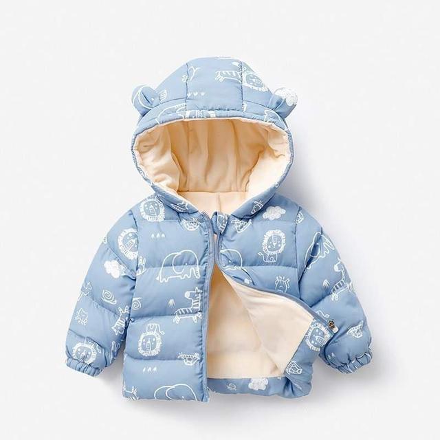 【預購】寶寶防水加絨羽絨外套