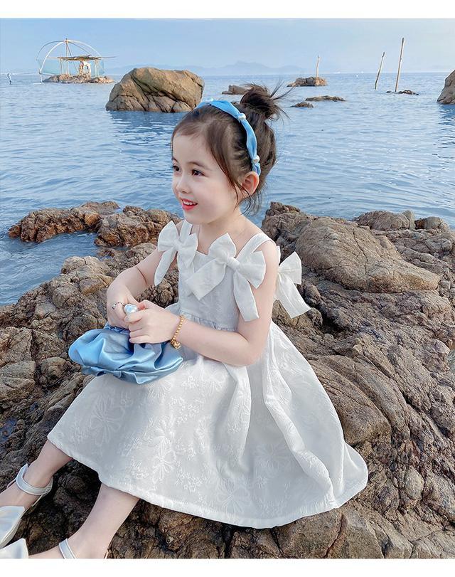 ⚜女童吊带裙新款蝴蝶结連衣裙