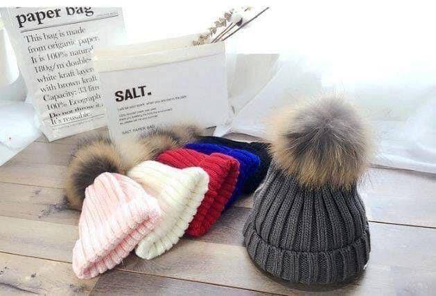秋冬韓版加厚針織毛球毛帽
