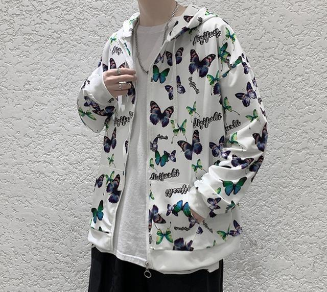 1001 潮牌原創寬鬆薄款蝴蝶開衫外套(2色)