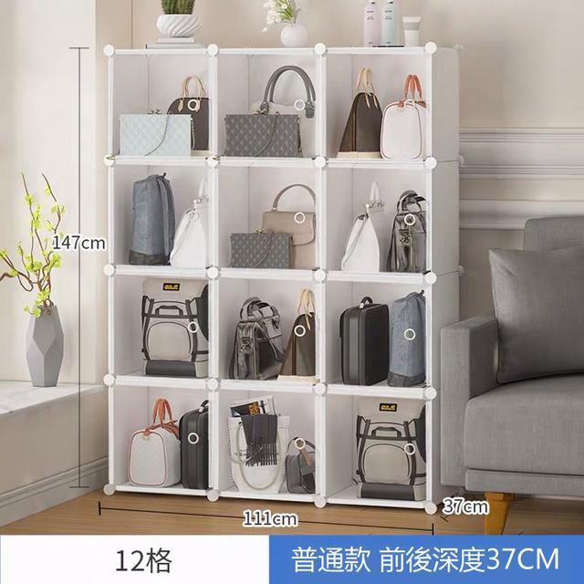 包包收纳神器落地家用卧室包柜透明防尘收纳柜置物架包架子收纳架