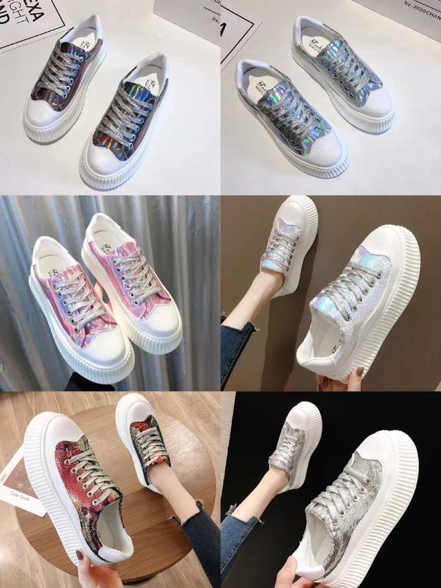 (預購)厚底小白鞋女2020春季新款韓版時尚百搭網红ins潮個性超火運動鞋