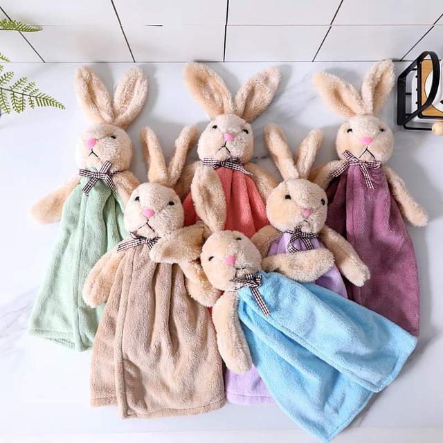 【預購】可愛兔子玩偶造型擦手巾