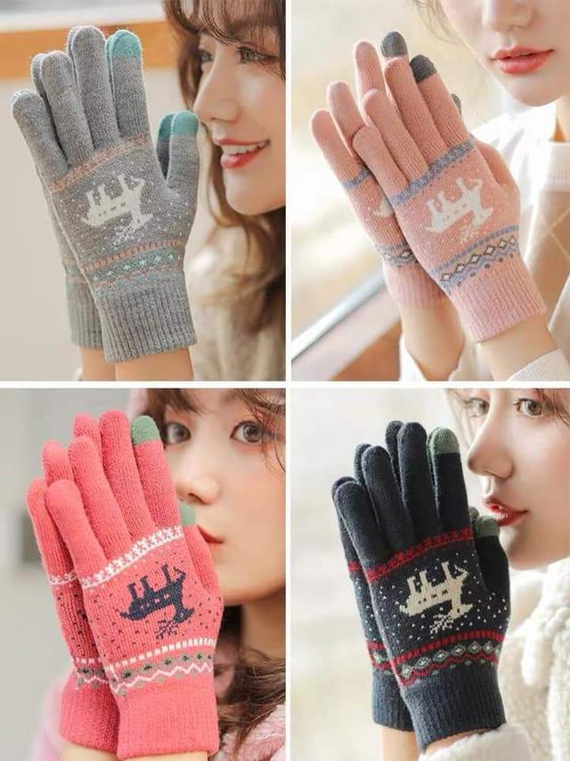 (預購S) 保暖針織觸屏手機平板螢幕手套