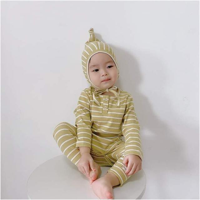 【預購】兒童韓版條紋套裝3件組