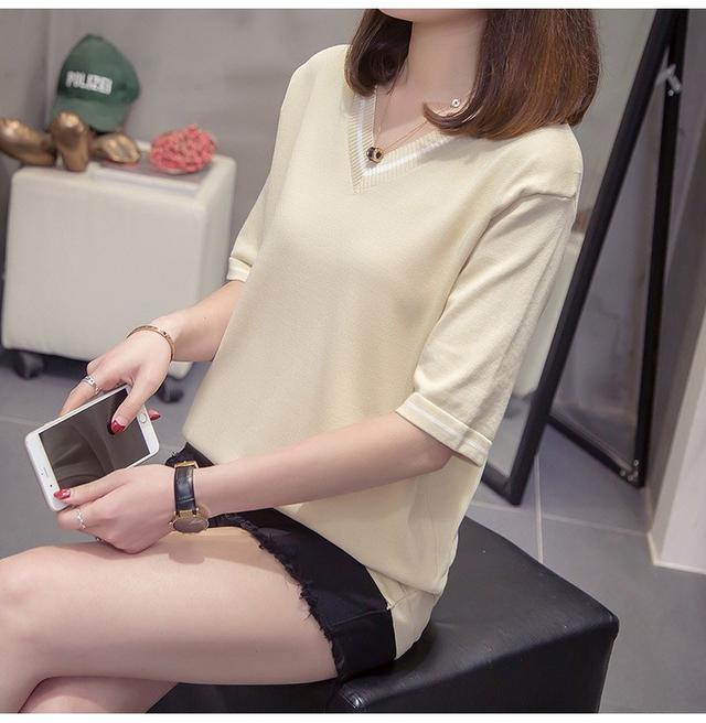 10 XL-4XL 大碼遮肚針織毛衣打底衫 兩色
