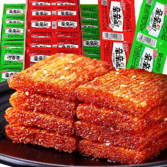 佳龍親親嘴辣條小零食大禮包網紅麻辣小吃麵筋休閒食品批發整箱