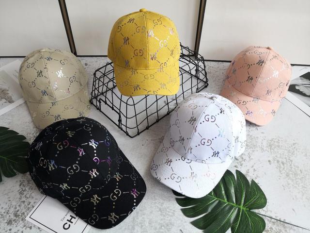 GUCCI满印NY棒球帽 糖果色 多色可选 均码 可调节大小