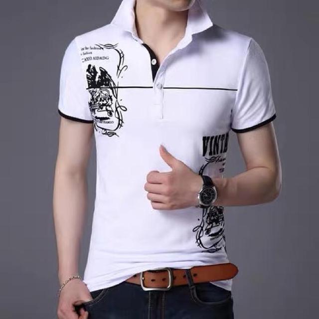 夏季男士纯棉短袖t恤大码宽松翻领polo衫加肥加大潮胖人体恤