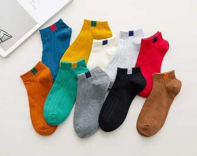 (預購S) 針織復古標籤短襪(一組10雙)