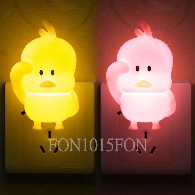 小鴨造型LED開關小夜燈