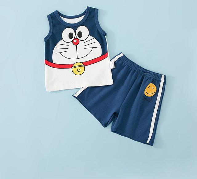 🍄兒童背心套装夏季薄款纯棉無袖